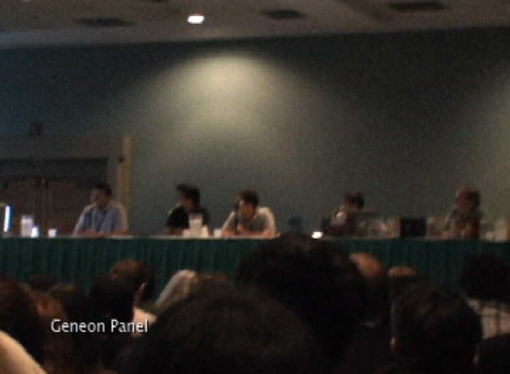 Framegrab from my own AX 07 video diary at the Geneon panel.