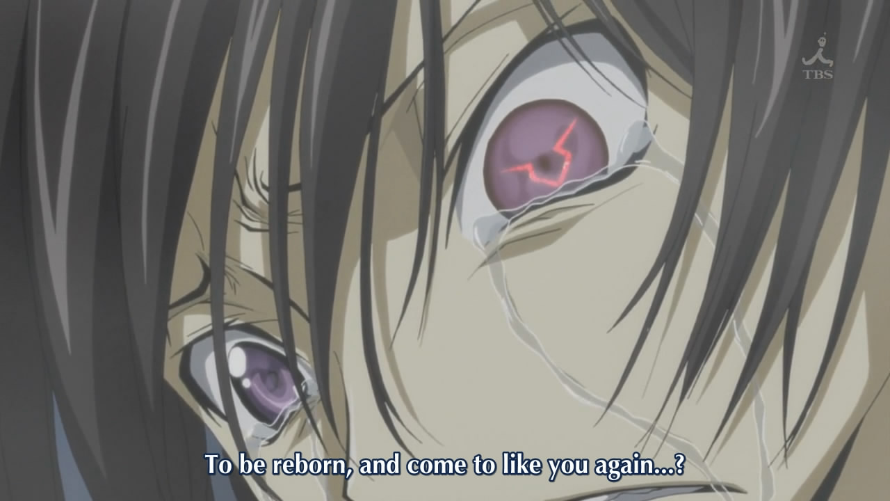 Anime Characters Crying : Code geass — you all know what happens right by now