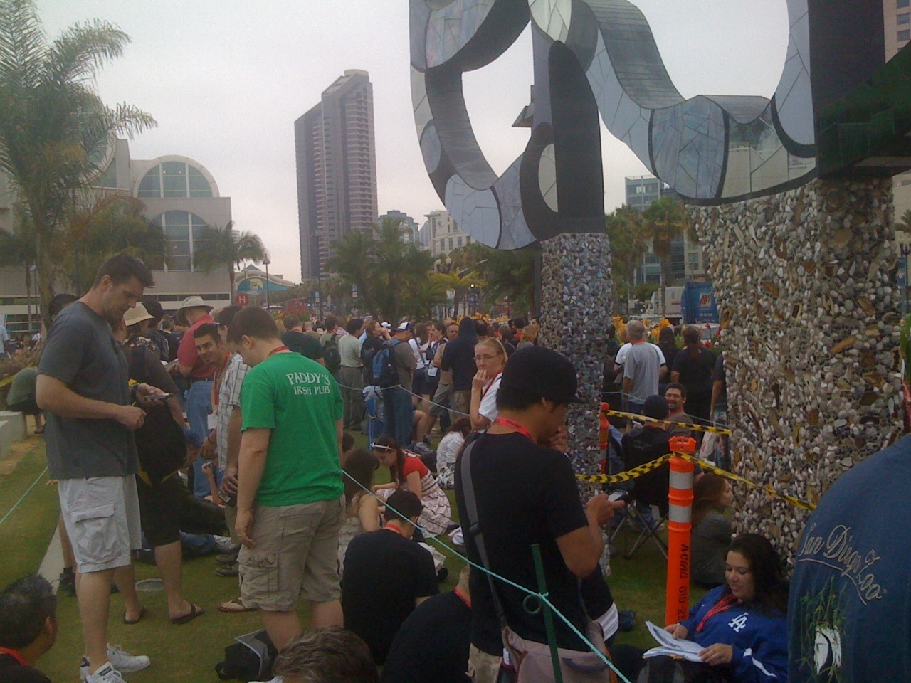 Waiting for Miyazaki outside Hall H