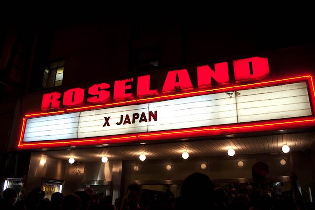 X Japan/Roseland Sign