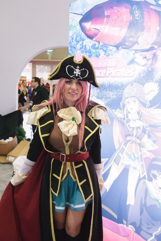 Sentai's Jessica Nigri cosplaying Marika from Bodacious Space Pirates