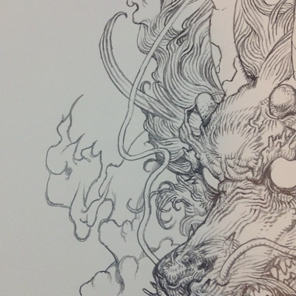 "An example of Terada's ""rakugaki"" doodling style, taken from his sketch Tumblr."