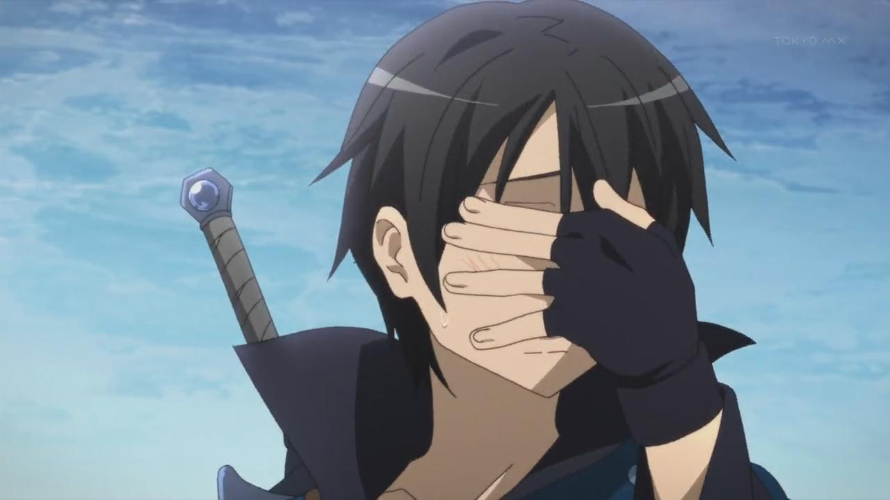 One Line Art Facepalm : In defense of sword art online anime diet